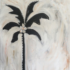 (CreativeWork) Lone Palm by Myee Harlow. arcylic-painting. Shop online at Bluethumb.