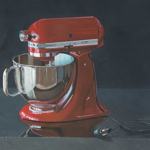 (CreativeWork) Kitchen Aid by Rob Kennedy. oil-painting. Shop online at Bluethumb.