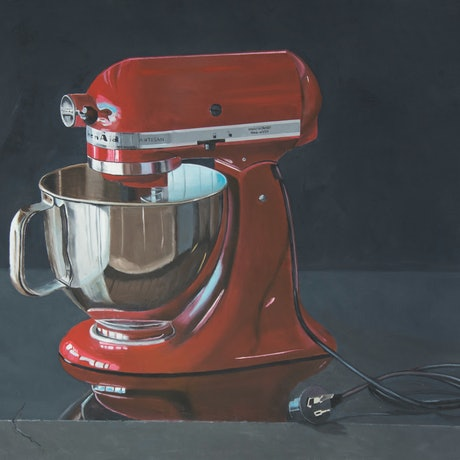 (CreativeWork) Kitchen Aid by Rob Kennedy. Oil Paint. Shop online at Bluethumb.