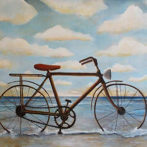 (CreativeWork) Cycles by Tank .. arcylic-painting. Shop online at Bluethumb.