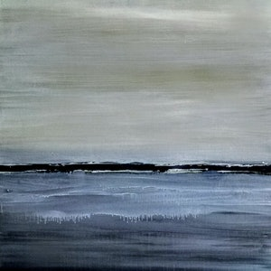 (CreativeWork) Grey water by Josephine Ann Pitsiava. mixed-media. Shop online at Bluethumb.