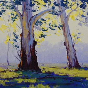 (CreativeWork) Morning lit Gums by Graham Gercken. oil-painting. Shop online at Bluethumb.