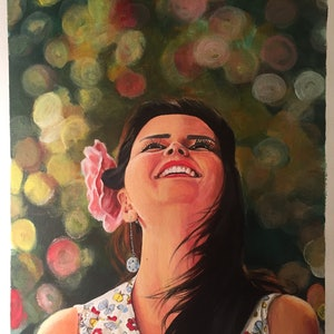 (CreativeWork) Happiness by Mitra Torki. arcylic-painting. Shop online at Bluethumb.