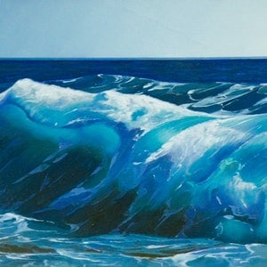 (CreativeWork) Blue Breaker 3 by Colin Madgwick. oil-painting. Shop online at Bluethumb.