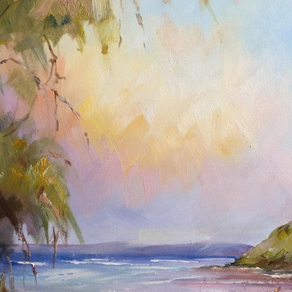 (CreativeWork) Wilsons Prom beach #2 by Liliana Gigovic. Oil Paint. Shop online at Bluethumb.