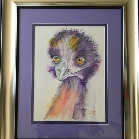 (CreativeWork) Wally  by June king. Watercolour Paint. Shop online at Bluethumb.