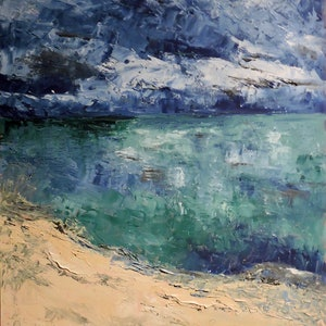 (CreativeWork) Bremer Bay II by Noela O'Keefe. oil-painting. Shop online at Bluethumb.