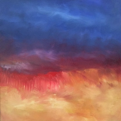(CreativeWork) Emergence 2 by Kitty Berton. Oil Paint. Shop online at Bluethumb.