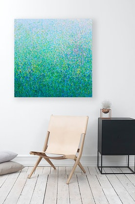 (CreativeWork) 'Pollen Nation' Acrylic paint on canvas   by George Hall. Acrylic Paint. Shop online at Bluethumb.