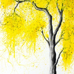 (CreativeWork) Autumn Tree Trio by Ashvin Harrison. arcylic-painting. Shop online at Bluethumb.