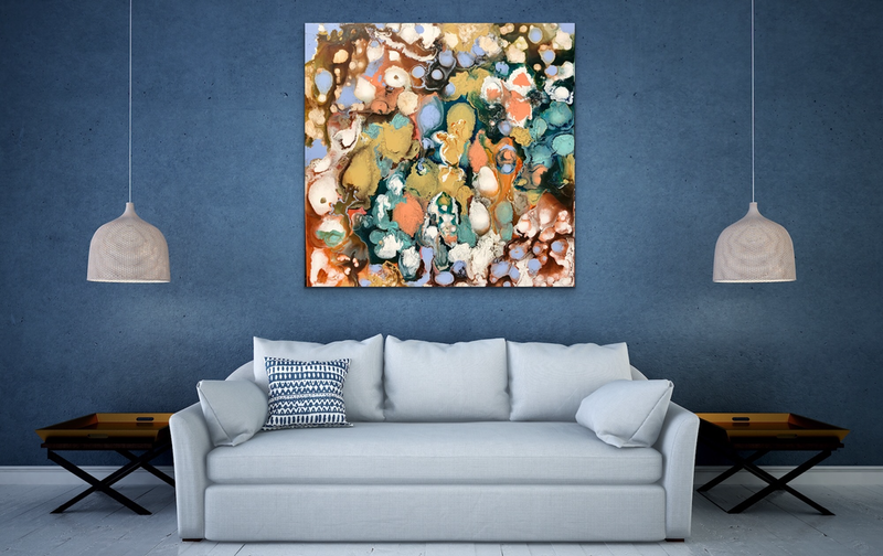 (CreativeWork) Tranquil  by Theo Papathomas. mixed-media. Shop online at Bluethumb.