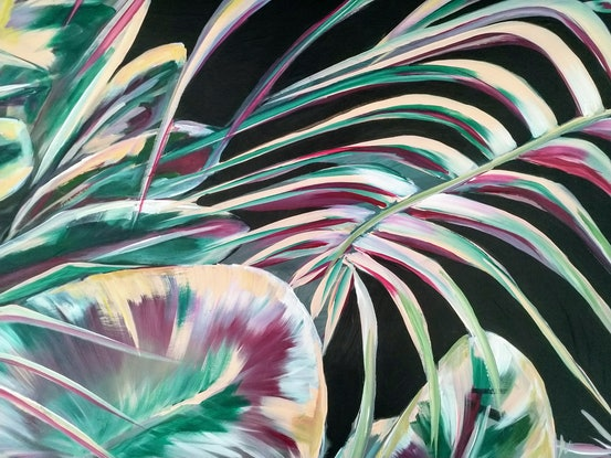 (CreativeWork) It's A Jungle Out There  by Amanda Skye Mulder. Acrylic Paint. Shop online at Bluethumb.