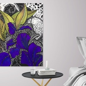 (CreativeWork) Purple Iris -Limited Edition Giclee Print - 3/250 Signed and Numbered Ed. 3 of 250 by Tania Daymond. print. Shop online at Bluethumb.