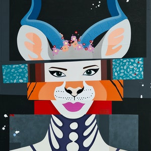 (CreativeWork) Kimberly by Tanya Marie Reeves. mixed-media. Shop online at Bluethumb.