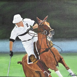 (CreativeWork) Polo Boss by Madi Cook. oil-painting. Shop online at Bluethumb.