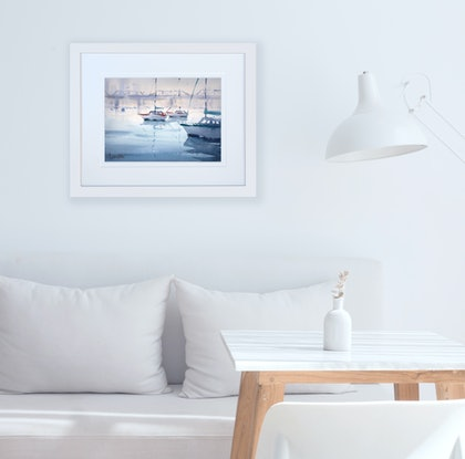 (CreativeWork) Iron Cove Bay, Sydney by Chrysovalantou Mavroudis. Watercolour Paint. Shop online at Bluethumb.