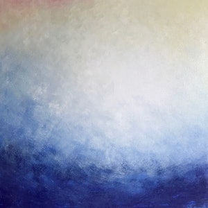 (CreativeWork) The Big Blue by Yvette Swan. oil-painting. Shop online at Bluethumb.