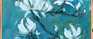 (CreativeWork) White Magnolia by Jen Shewring. arcylic-painting. Shop online at Bluethumb.