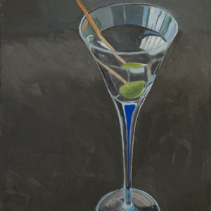 (CreativeWork) Martini by Rob Kennedy. oil-painting. Shop online at Bluethumb.