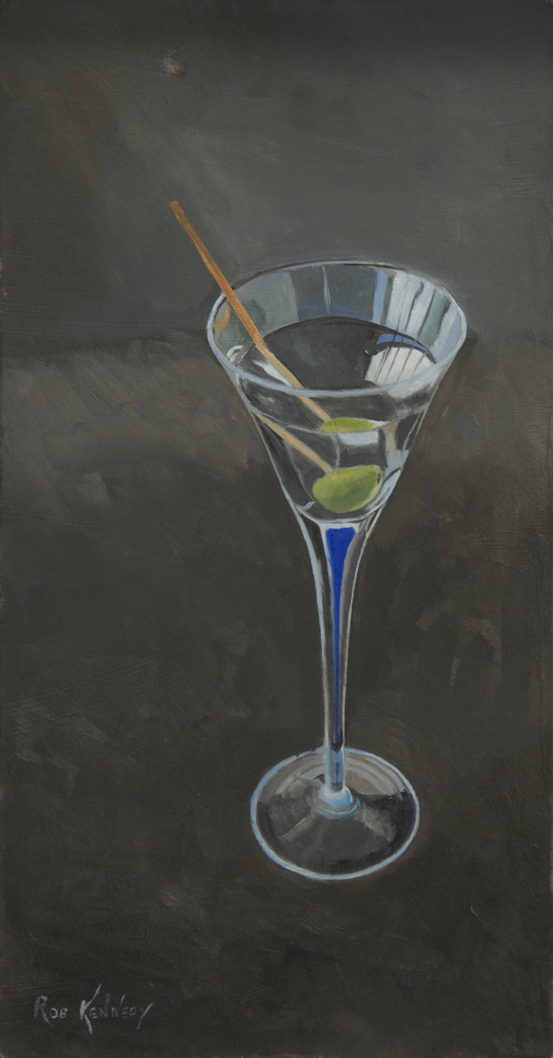 (CreativeWork) Martini by Rob Kennedy. Oil Paint. Shop online at Bluethumb.