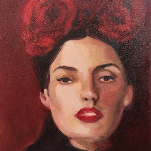 (CreativeWork) Carmen by Elizabeth Braun. oil-painting. Shop online at Bluethumb.