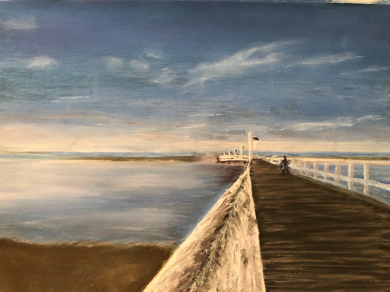 (CreativeWork) A long walk on a pier - Urangan, Hervey Bay, Qld by Jane Davies. other-media. Shop online at Bluethumb.