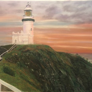 (CreativeWork) Worth the walk - Cape Byron by Jane Davies. other-media. Shop online at Bluethumb.