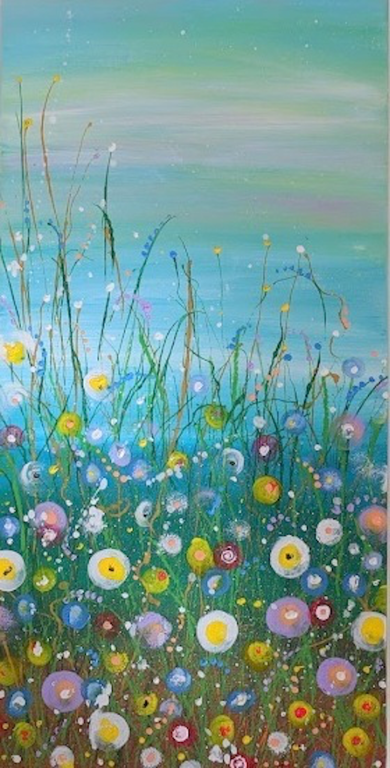 (CreativeWork) Little Spring by Yvonne Wells. arcylic-painting. Shop online at Bluethumb.