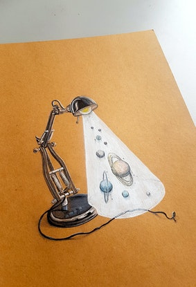 (CreativeWork) Solar System by Si Dowling. Drawings. Shop online at Bluethumb.