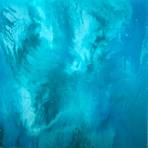 (CreativeWork) Blue Escape by Abstract Anouk. arcylic-painting. Shop online at Bluethumb.