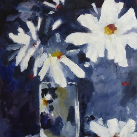 (CreativeWork) Daisy Daisy by Barry O'Brien. Oil Paint. Shop online at Bluethumb.