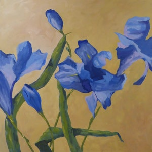 (CreativeWork) Greeting the Morning by Barry O'Brien. oil-painting. Shop online at Bluethumb.
