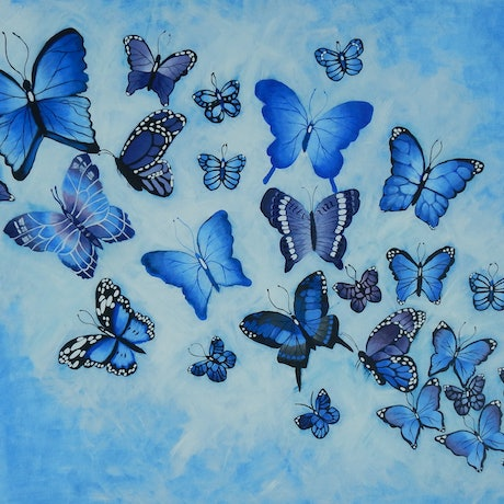(CreativeWork) Peaceful by Kerry T. Acrylic Paint. Shop online at Bluethumb.