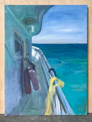 (CreativeWork) Meet The Wind Of Sea Again by Julia Wu. Acrylic Paint. Shop online at Bluethumb.