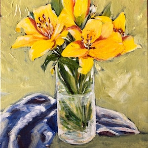 (CreativeWork) Summer is here by Mitra Torki. arcylic-painting. Shop online at Bluethumb.