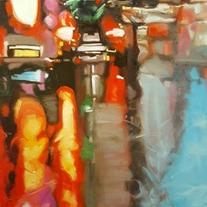 (CreativeWork) Van-Go by Karen Bloomfield. oil-painting. Shop online at Bluethumb.