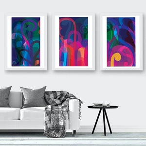 (CreativeWork) Lunar Garden Triptych Ed. 7 of 100 by Shana Danon. print. Shop online at Bluethumb.
