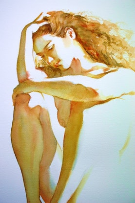 (CreativeWork) Barely There #2 - Original Watercolour Painting by Pauline Adair. #<Filter:0x00007f3c345b3020>. Shop online at Bluethumb.