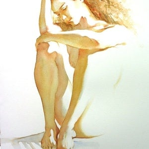 (CreativeWork) Barely There #2 - Original Watercolour Painting by Pauline Adair. watercolour. Shop online at Bluethumb.