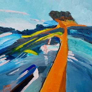 (CreativeWork) Coast by Timothy Dell. oil-painting. Shop online at Bluethumb.