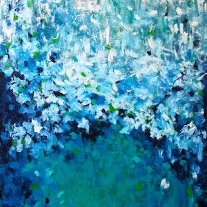(CreativeWork) Rain Song by Belinda Nadwie. oil-painting. Shop online at Bluethumb.
