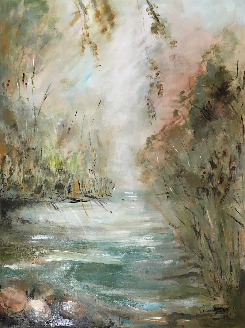 (CreativeWork) Peace by Liz Muir. oil-painting. Shop online at Bluethumb.