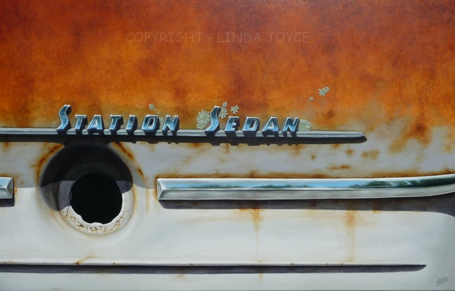(CreativeWork) Laurie's '58 FC by Linda Joyce. Acrylic Paint. Shop online at Bluethumb.