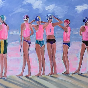 (CreativeWork) The team by Gina Fishman. arcylic-painting. Shop online at Bluethumb.