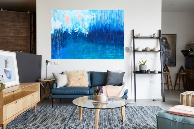 (CreativeWork) Swell by Belinda Nadwie. Mixed Media. Shop online at Bluethumb.