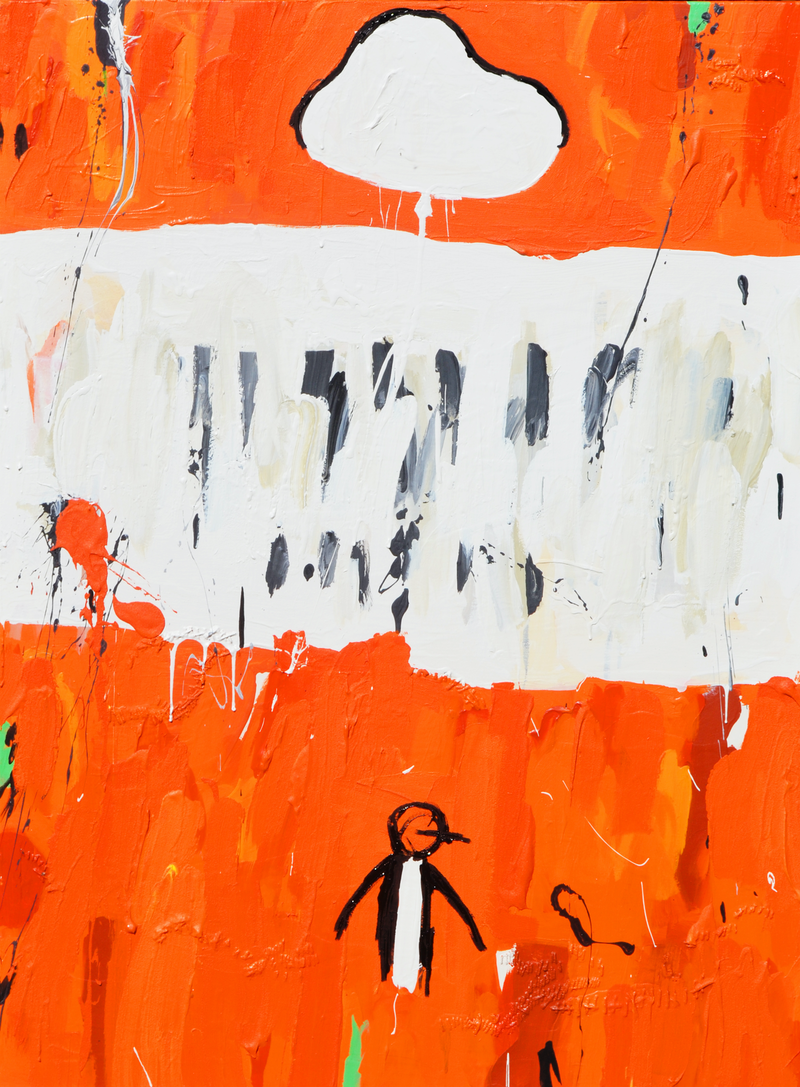 (CreativeWork) Unpopular Penguin 307 by Ben Tankard. arcylic-painting. Shop online at Bluethumb.