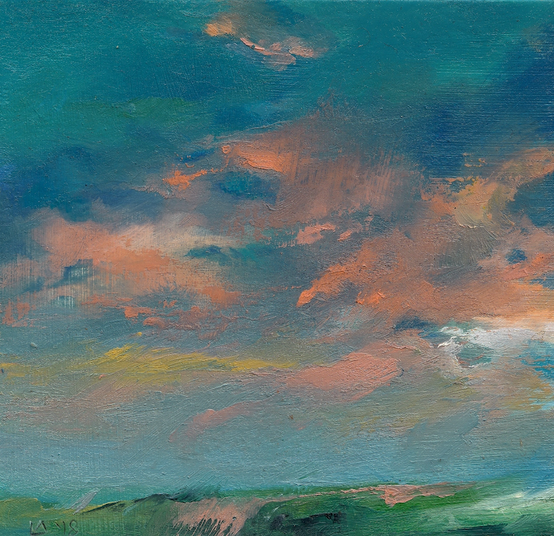 (CreativeWork) Cloud Study in Oil II by Lamice Ali. oil-painting. Shop online at Bluethumb.