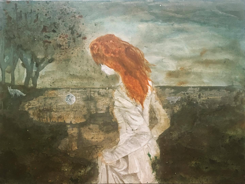 (CreativeWork) All that we see or seem is but a dream within a dream by Josh Honeyman. arcylic-painting. Shop online at Bluethumb.