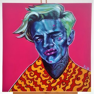 (CreativeWork) Pop Art Series 1 - Newage Pop by Kenneth Chu. arcylic-painting. Shop online at Bluethumb.