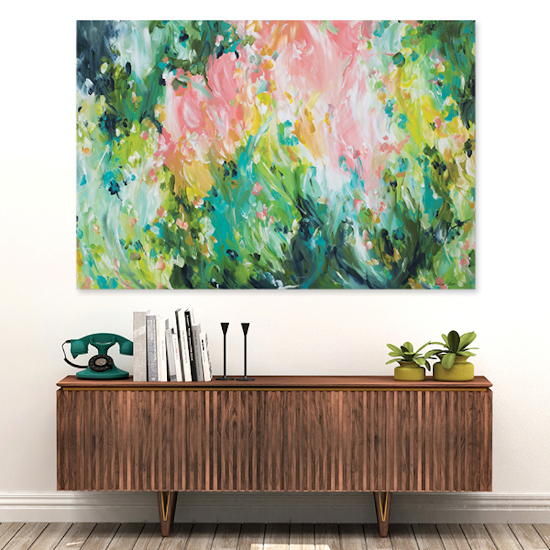 (CreativeWork) Springtime Adventures by Amber Gittins. arcylic-painting. Shop online at Bluethumb.